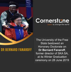 Honorary Doctorate on Dr Bernard Fanaroff